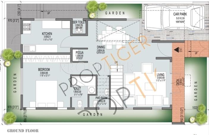 JS Lotus (3BHK+4T (2,123 sq ft) + Pooja Room 2123 sq ft)