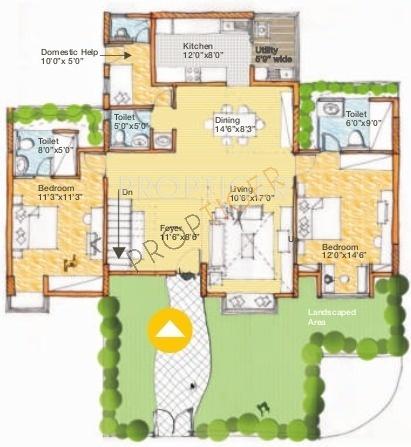 Spectra Cypress (4BHK+5T (2,152 sq ft) + Servant Room 2152 sq ft)