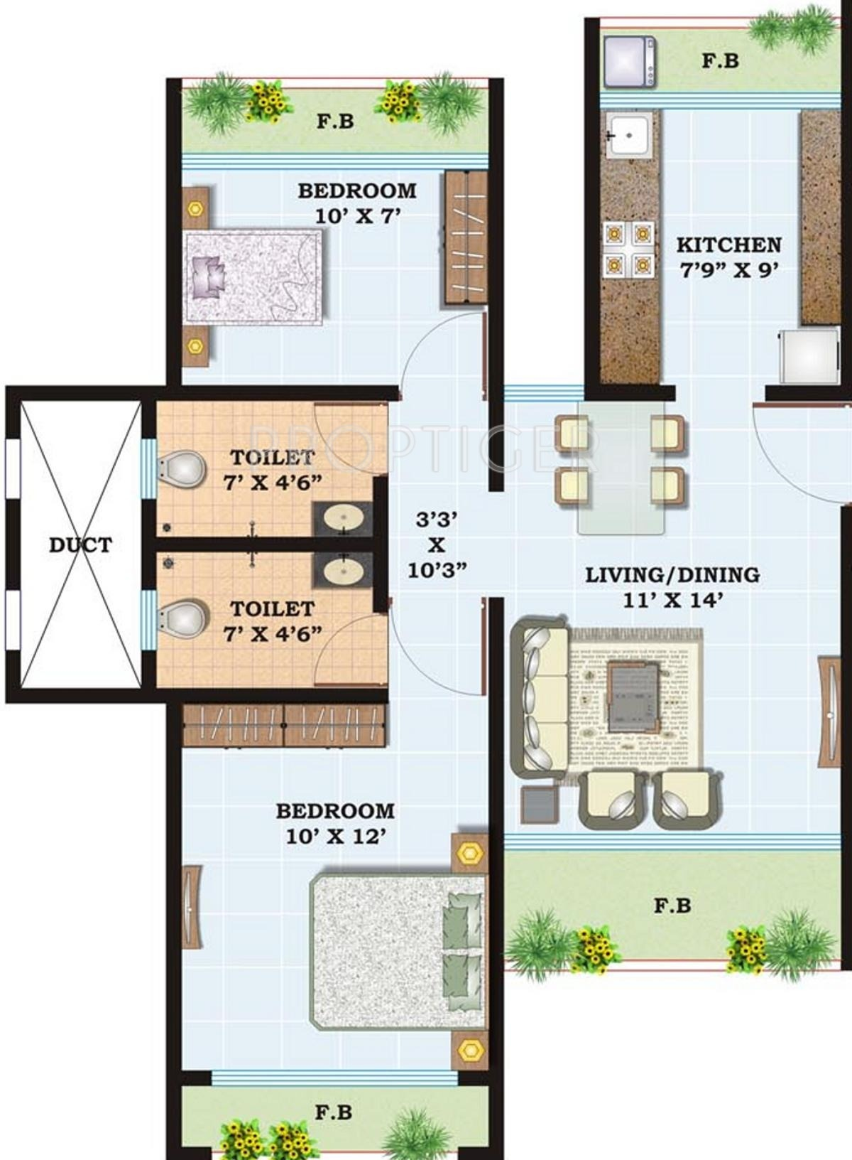 1050 sq ft 2 bhk 2t apartment for sale in siddhitech homes for 1050 sq ft floor plans