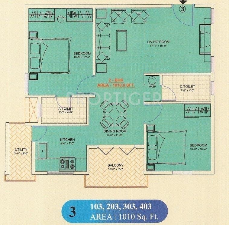 1010 Sq Ft 2 Bhk 2t Apartment For Sale In Mahaghar Sri Sai
