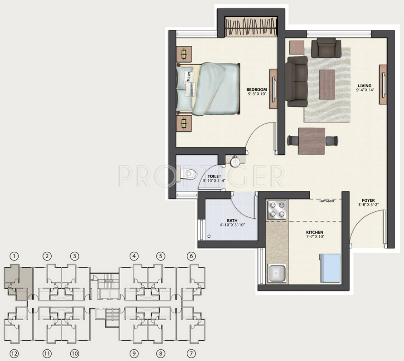 570 sq ft 1 bhk 2t apartment for sale in tata housing for 1077 marinaside crescent floor plan