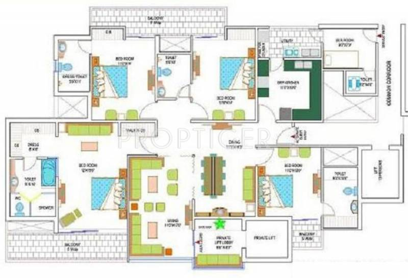 Amrapali Heartbeat City (4BHK+5T (2,825 sq ft) 2825 sq ft)