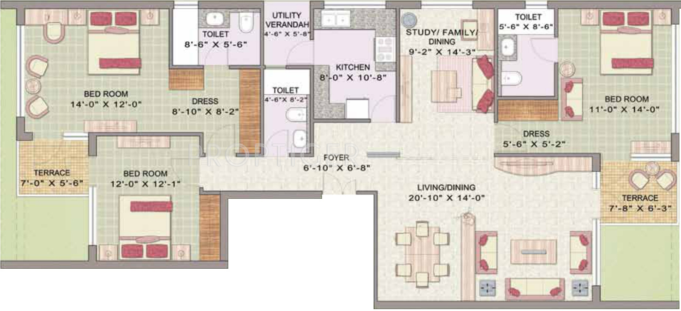 Jaypee Pavilion Heights In Sector 128 Noida Price