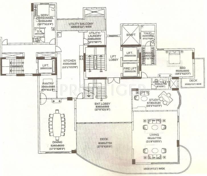 9175 sq ft 5 bhk floor plan image dlf magnolias for 5 bhk duplex floor plan