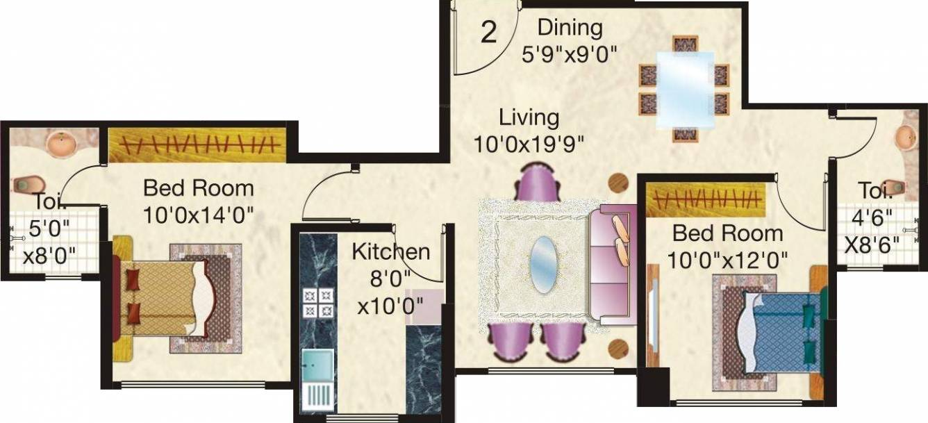 720 sq ft 2 bhk 2t apartment for sale in hiranandani for 720 sq ft apartment floor plan