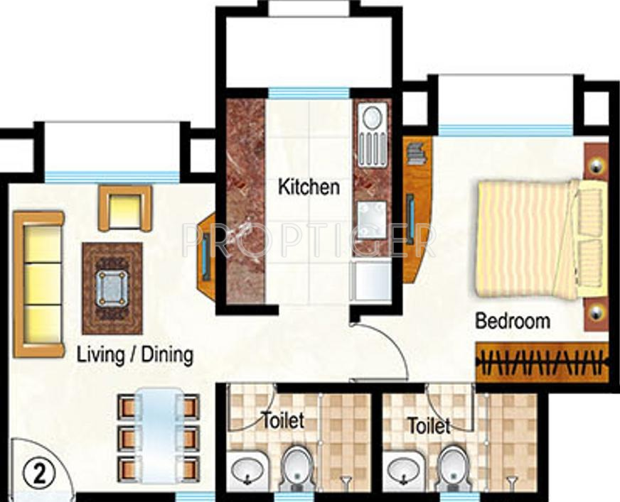 640 Sq Ft 1 Bhk 2t Apartment For Sale In Hiranandani