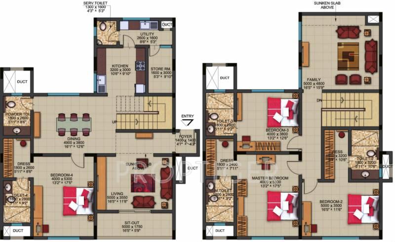 3467 sq ft 4 bhk floor plan image sobha limited dew for 5 bhk duplex floor plan