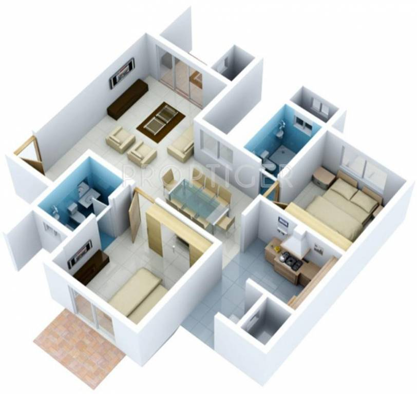 1195 sq ft 2 bhk 2t apartment for sale in vaishnavi group for 1200 sq ft modular home price