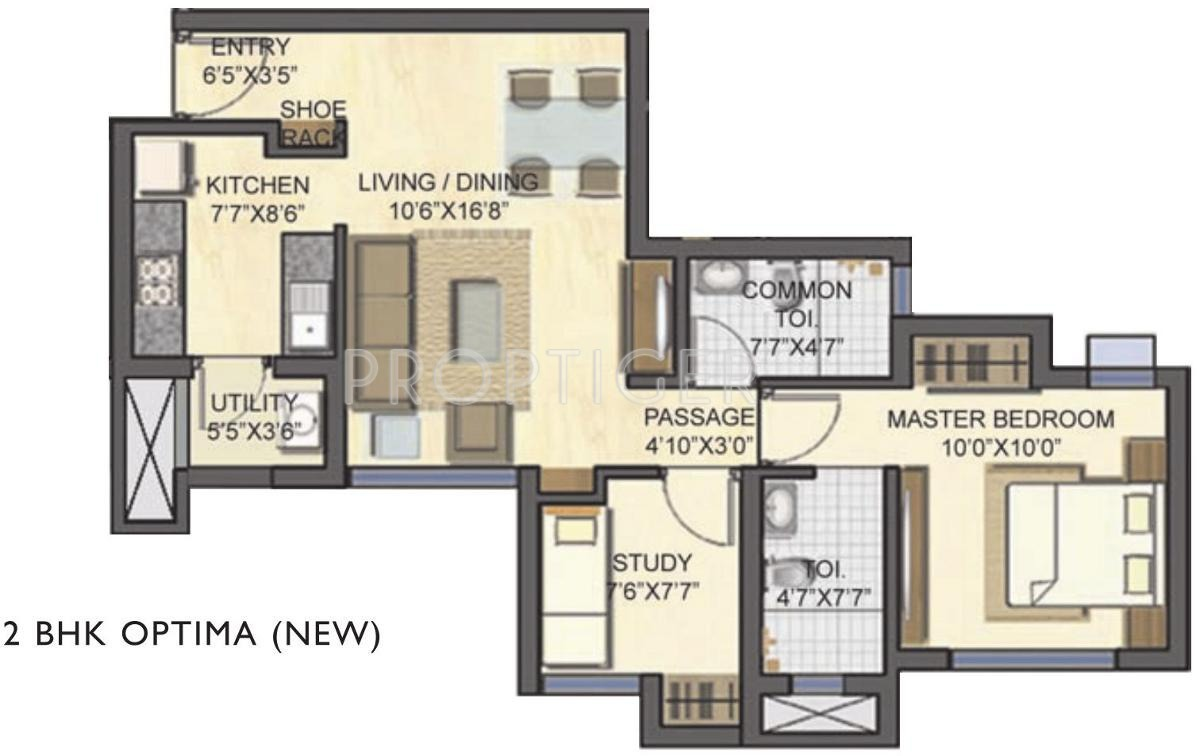 747 Sq Ft 2 Bhk 2t Apartment For Sale In Lodha Group Casa
