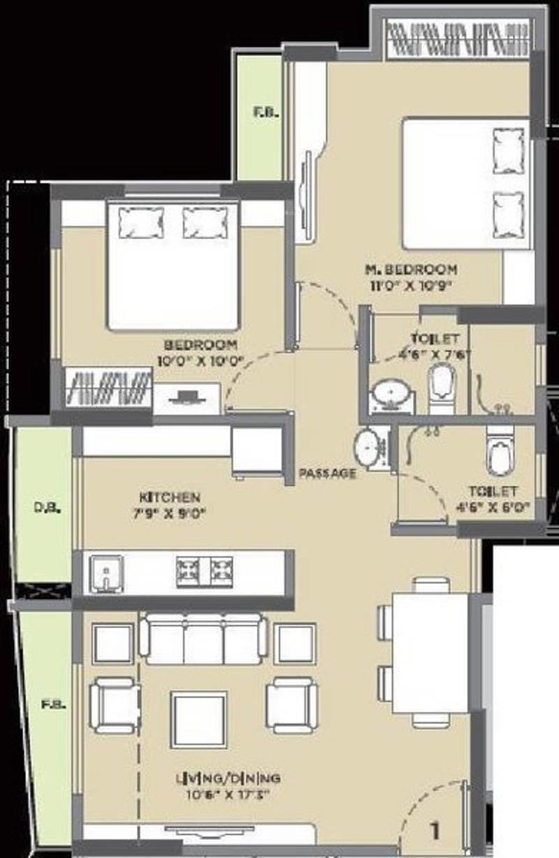 Vijay vijay residency in thane west mumbai price for X2 residency floor plan