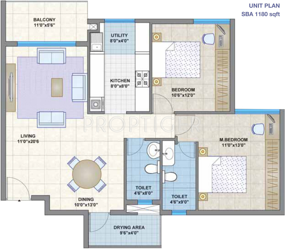 1180 sq ft 2 bhk 2t apartment for sale in legacy group