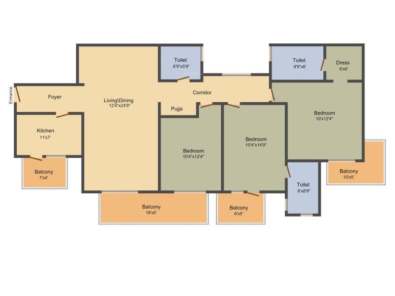 Indiabulls Centrum Park (3BHK+3T (1,900 sq ft) 1900 sq ft)