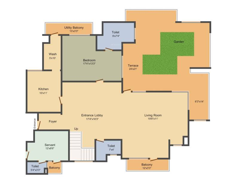 Indiabulls Centrum Park (4BHK+5T (4,900 sq ft) + Study Room 4900 sq ft)