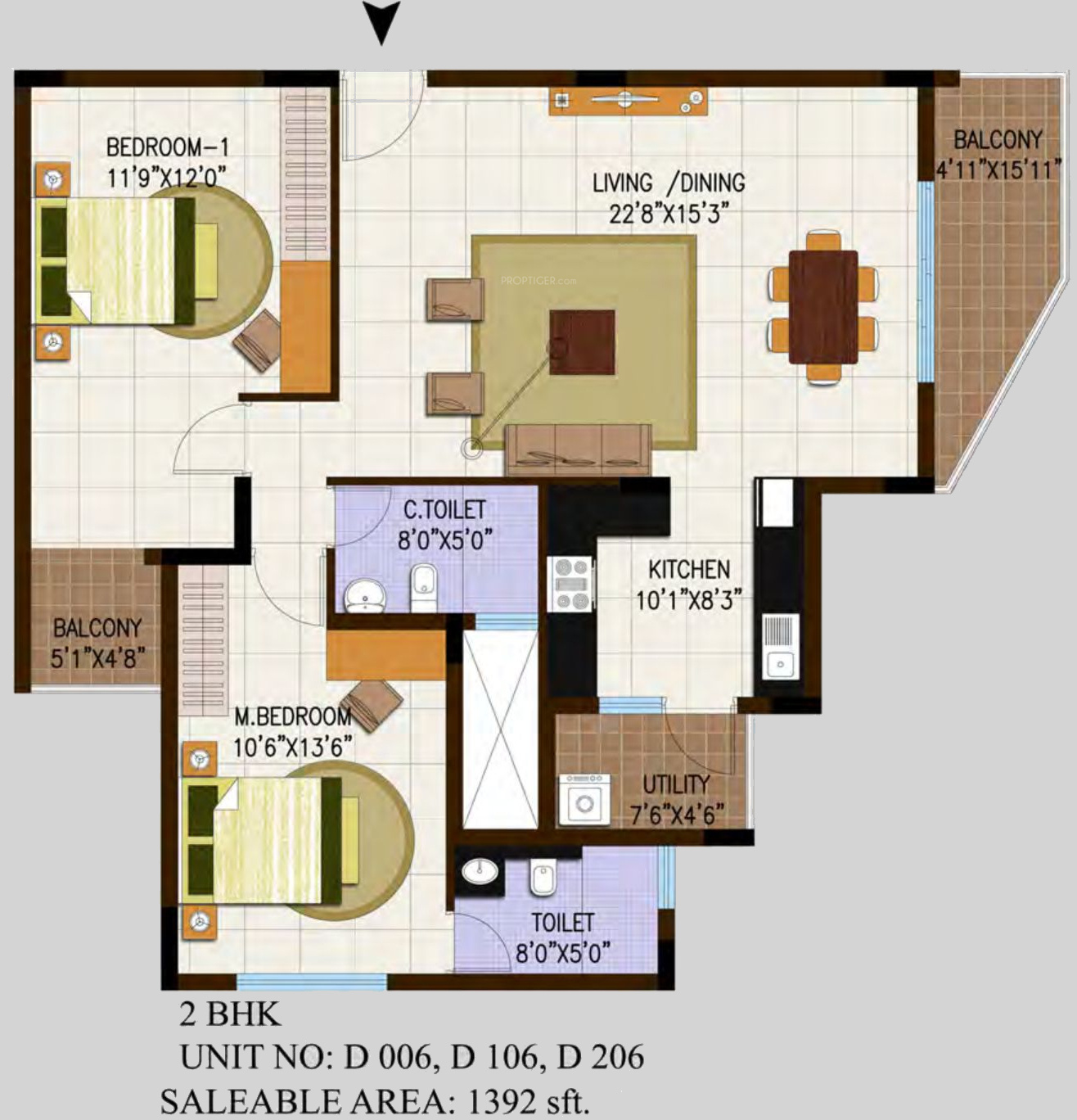 1392 Sq Ft 2 Bhk 2t Apartment For Sale In Century Real