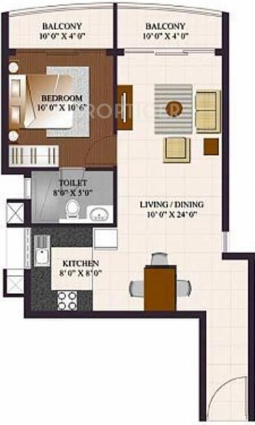 ETA Rosedale (1BHK+1T (784 sq ft) 784 sq ft)