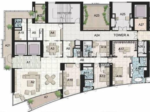 6000 sq ft 4 bhk 4t apartment for sale in ahuja tower for 6000 square foot house plans