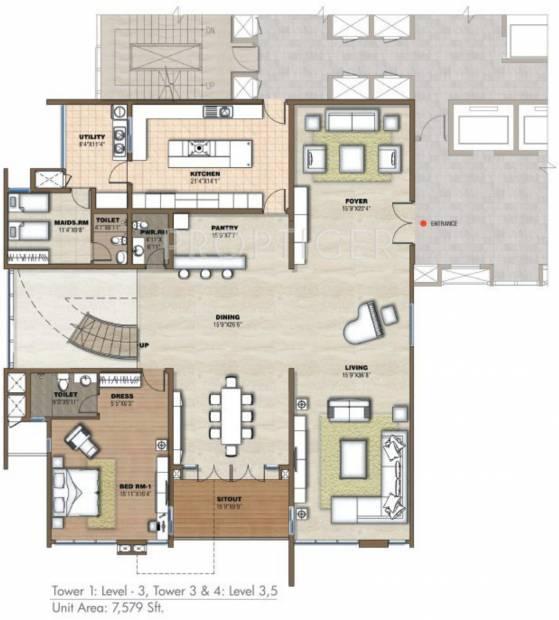 Prestige White Meadows (4BHK+6T (7,579 sq ft) + Servant Room 7579 sq ft)