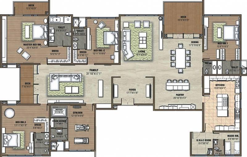Prestige White Meadows (4BHK+7T (6,651 sq ft)   Servant Room 6651 sq ft)