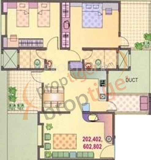 House Plan For 16 Feet By 54 Feet Plot Plot Size 96: 1149 Sq Ft 2 BHK 2T Apartment For Sale In Yash Builders