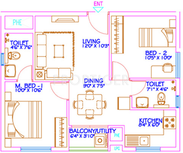 850 sq ft 2 bhk 2t apartment for sale in mantri group for Sq 850
