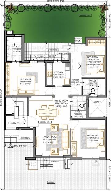 Vatika Primrose Floors (3BHK+3T (1,156 sq ft) 1156 sq ft)