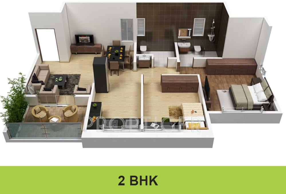 800 sq ft 2 bhk 2t apartment for sale in darode jog greenland county