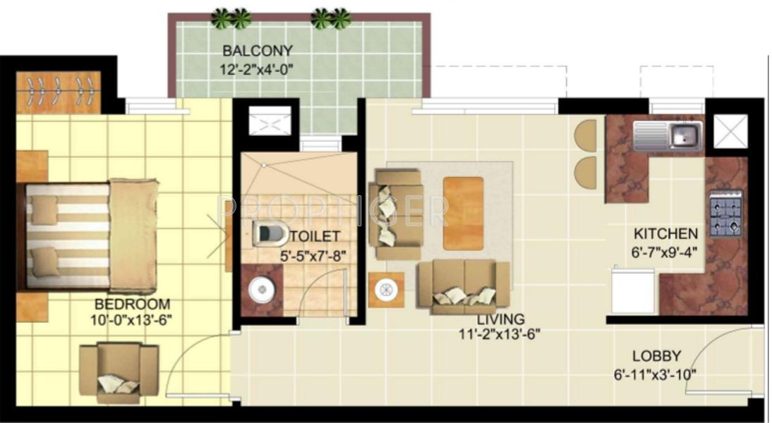 750 sq ft 1 bhk 1t apartment for sale in ansal api sushant 750 sq ft