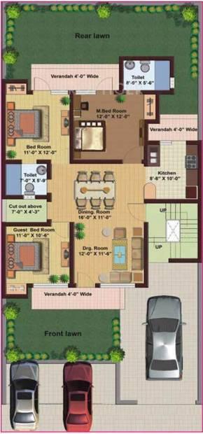 M2K Spring Floors (3BHK+2T (1,500 sq ft) 1500 sq ft)