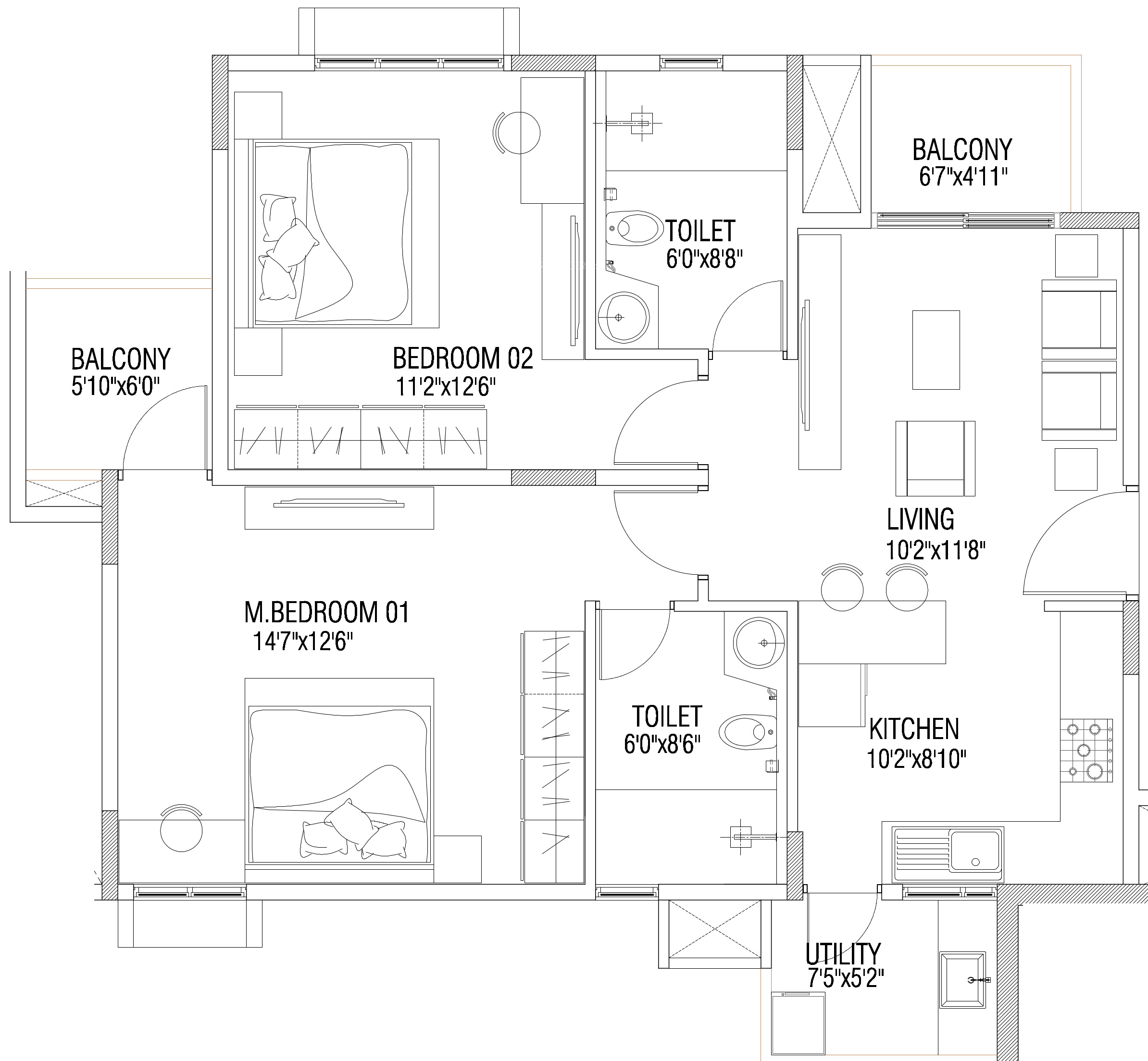 Vaswani brentwood in ramagondanahalli bangalore price for Brentwood floor plan