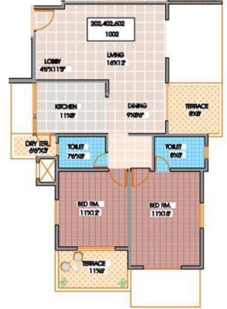 850 sq ft 2 bhk 2t apartment for sale in shroff serenade for 850 sq ft house plans