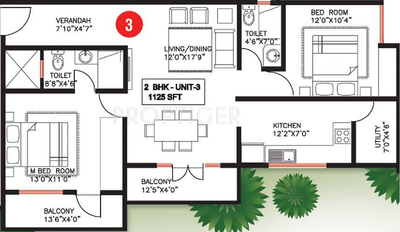 1125 sq ft 2 bhk 2t apartment for sale in saveria winston for 1125 sq ft floor plan