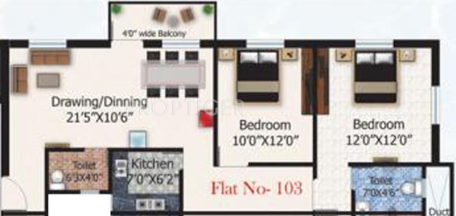 600 sq ft 2 bhk 2t apartment for sale in abc associate for Hardwood floors 600 sq ft
