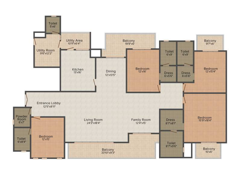 Experion Windchants (4BHK+5T (4,650 sq ft) + Servant Room 4650 sq ft)