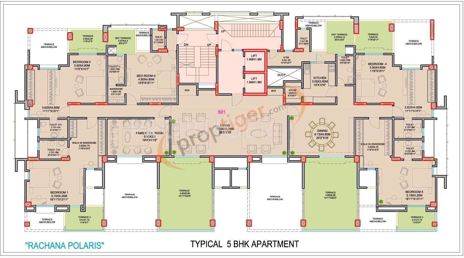 6500 Sq Ft 5 Bhk 8t Apartment For Sale In Rachana