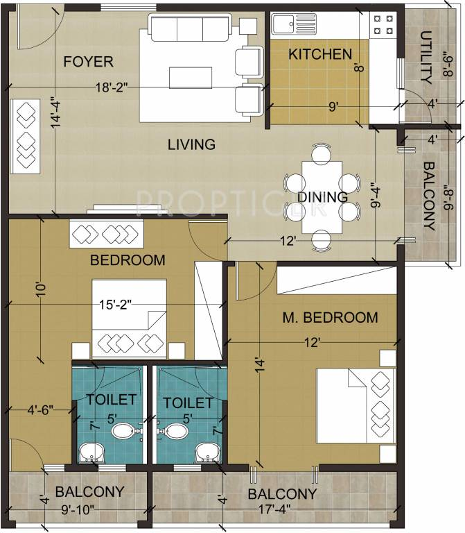 1300 Sq Ft 2 Bhk 2t Apartment For Sale In Mayur Daffodils