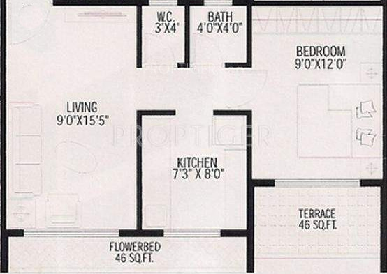 675 sq ft 1 bhk 1t apartment for sale in ishwar iris for 675 sq ft floor plan