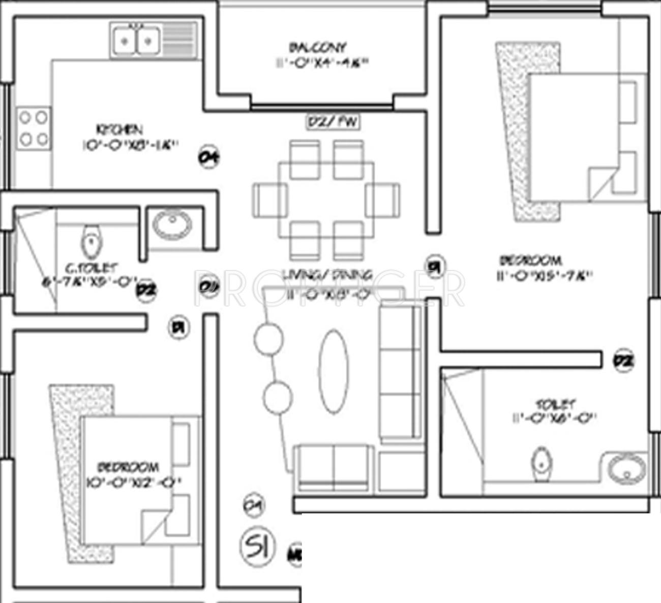 100 1100 Sq Ft Floor Plans Floor Plan For