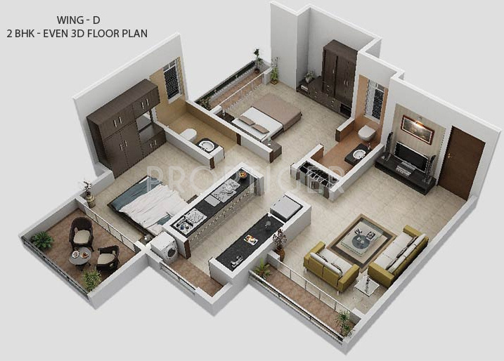 Gurukrupa guru atman in kalyan west mumbai price for Interior design 600 sq ft flat