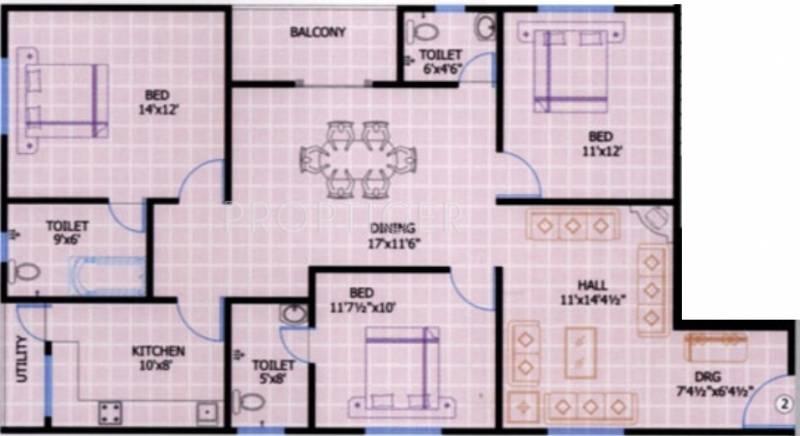 Srinilaya Ark Villa (3BHK+3T (1,512 sq ft) 1512 sq ft)