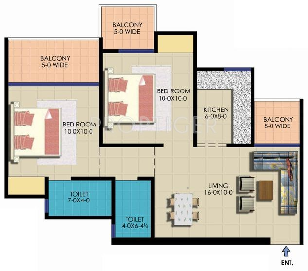925 Sq Ft 2 Bhk 2t Apartment For Sale In Ekdant Group