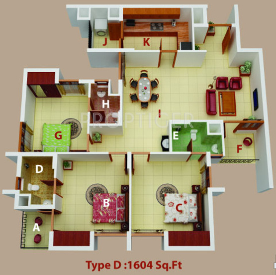 PVS Builders And Developers Fortune (3BHK+3T (1,604 sq ft) 1604 sq ft)