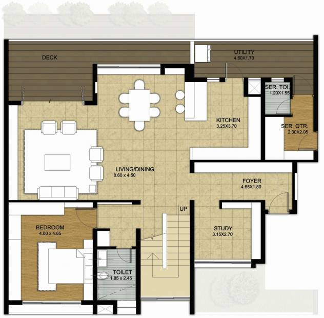Value Willow Farm (3BHK+3T (3,872 sq ft)   Study Room 3872 sq ft)