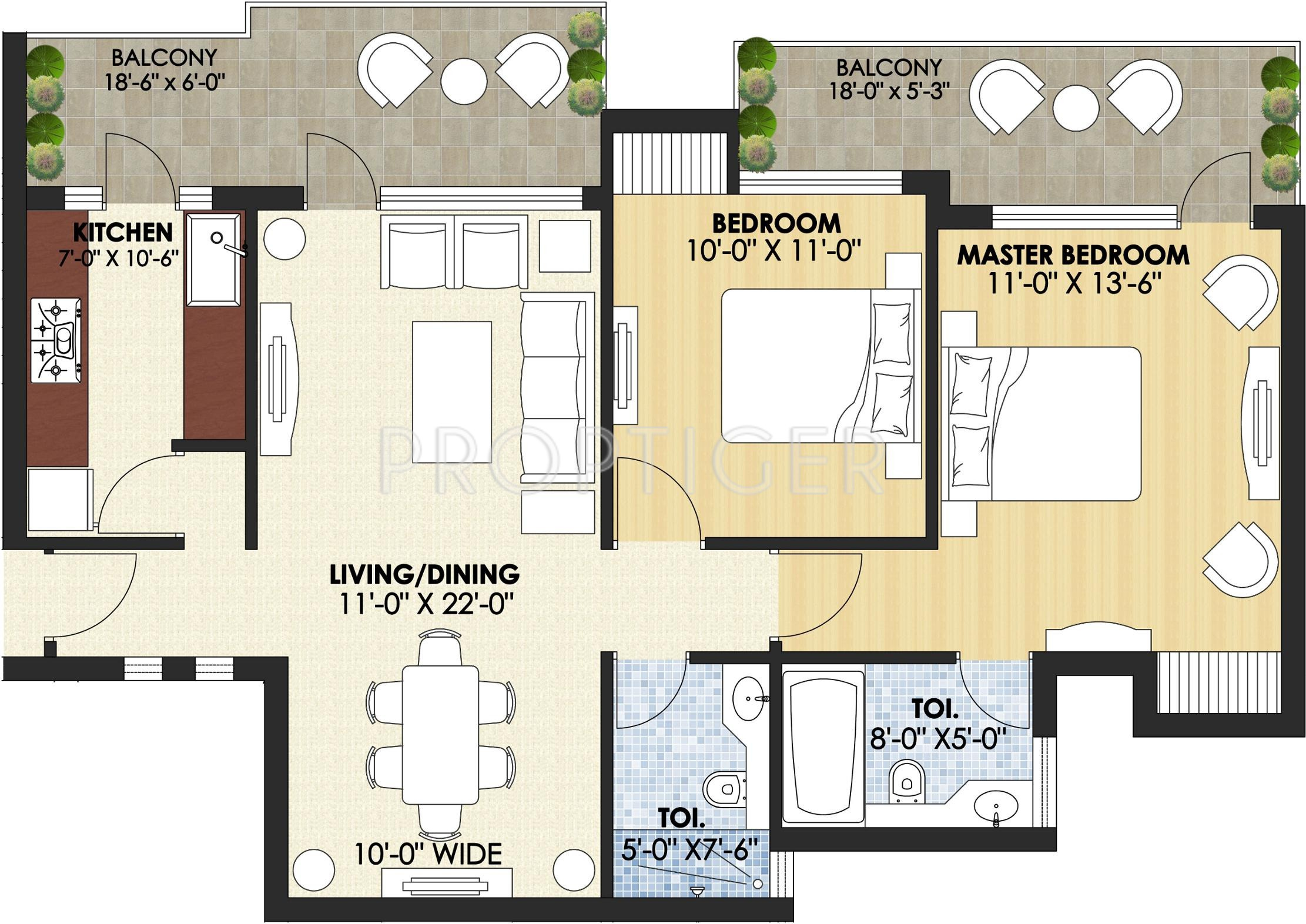 1250 sq ft 2 bhk floor plan 2bhk 2t 1250 sq ft image for 1250 square feet house