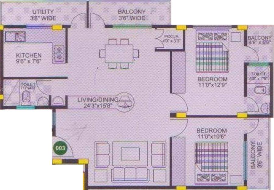 Nishitas amma srirama residency in sahakar nagar for X2 residency floor plan
