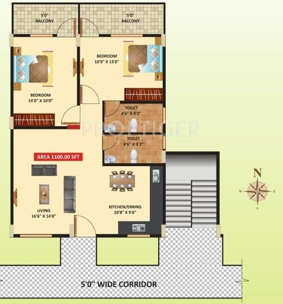1100 sq ft 2 bhk 2t apartment for sale in himagiri for 1100 sq ft apartment floor plan