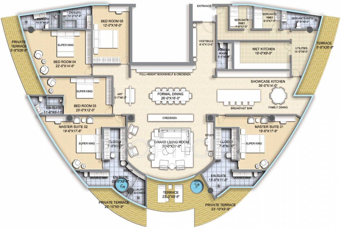 5000 sq ft 5 bhk 6t apartment for sale in homestead india for Apartment house plans india