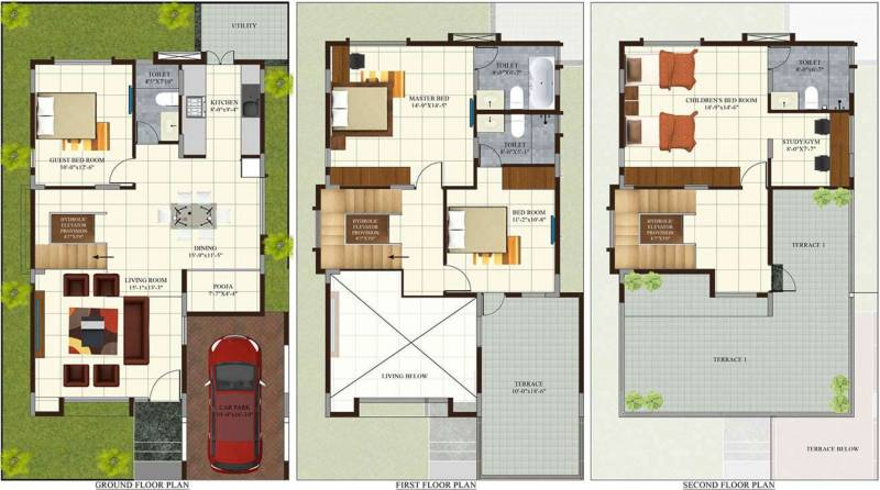 Concorde cuppertino 4bhk 4t 2350 sq ft 2350 sq ft