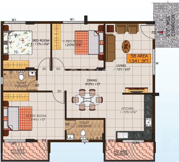 Foyer City Floor Plan : Sq ft bhk t apartment for sale in foyer group