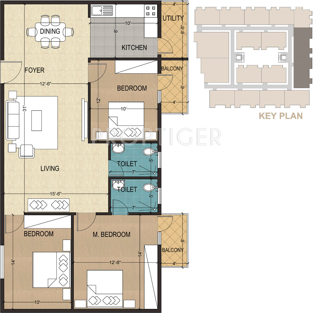 1420 Sq Ft 3 Bhk 2t Apartment For Sale In Mayur Signature