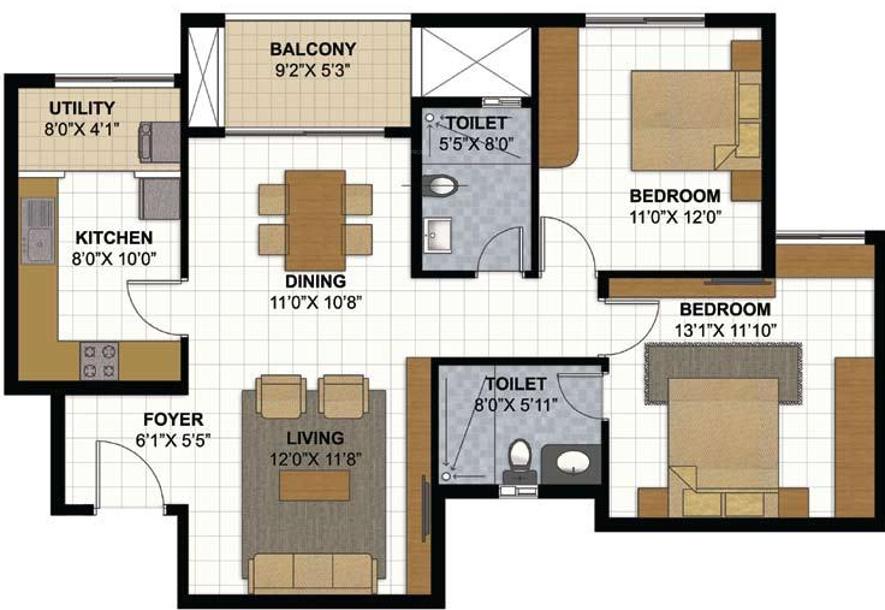 Prestige parkview in kadugodi bangalore price location for Parkview homes floor plans